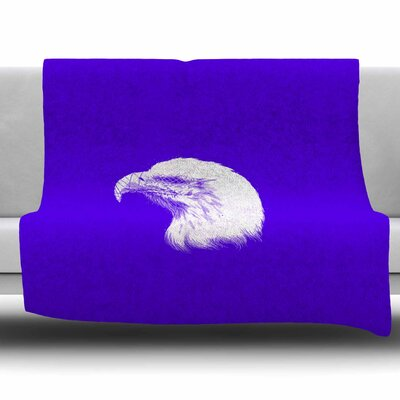Blind And Silent by BarmalisiRTB Fleece Blanket Size: 80 L x 60 W