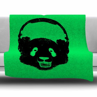 Panda by BarmalisiRTB Fleece Blanket Size: 80 L x 60 W
