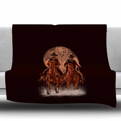 Come At Night by BarmalisiRTB Fleece Blanket Size: 80 L x 60 W