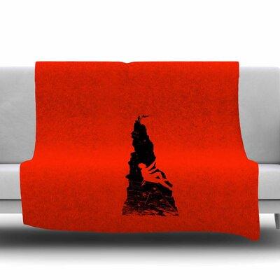 Climbing by BarmalisiRTB Fleece Blanket Size: 80 L x 60 W