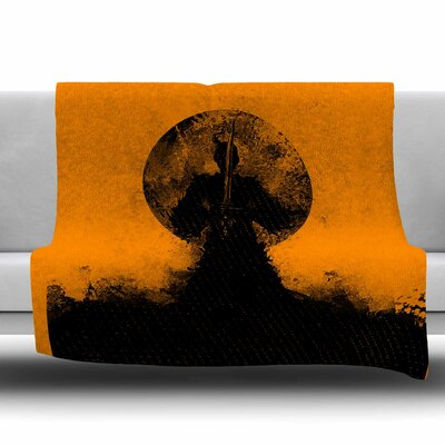 Samuari by BarmalisiRTB Fleece Blanket Size: 80 L x 60 W
