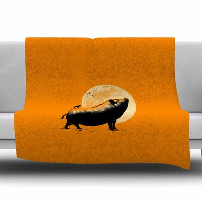 Barking Pig by BarmalisiRTB Fleece Blanket Size: 80 L x 60 W