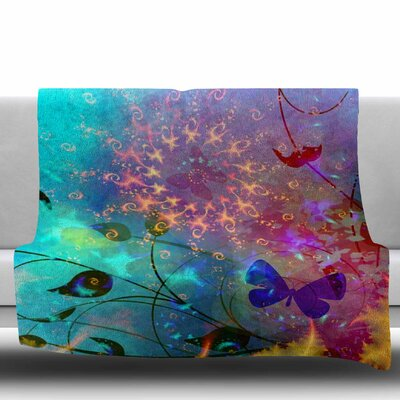 ILLUSION by AlyZen Moonshadow Fleece Blanket Size: 80 L x 60 W