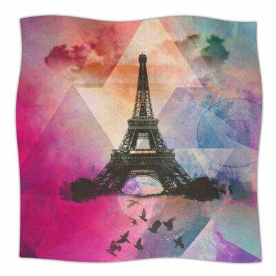 EIFFEL TOWER by alyZen Moonshadow Fleece Blanket Size: 80 L x 60 W