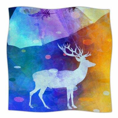 RAIN DEER by alyZen Moonshadow Fleece Blanket Size: 80 L x 60 W