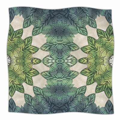 Forest Leaves by Art Love Passion Fleece Blanket Size: 80 L x 60 W
