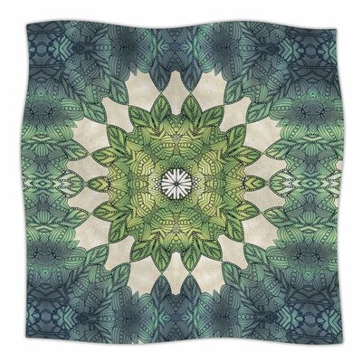 Forest Leaves Repeat by Art Love Passion Fleece Blanket Size: 80 L x 60 W