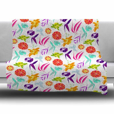 Iris by Anchobee Fleece Blanket Size: 80 L x 60 W