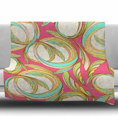 Cirle Sings by Amy Reber Fleece Blanket Size: 80 L x 60 W