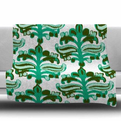 Chandelier Ikat by Amy Reber Fleece Blanket Size: 80 L x 60 W