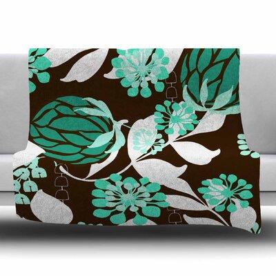Bold Relief by Amy Reber Fleece Blanket Size: 80 L x 60 W
