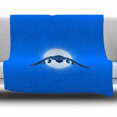 Battle Owl by BarmalisiRTB Fleece Blanket Size: 80 L x 60 W
