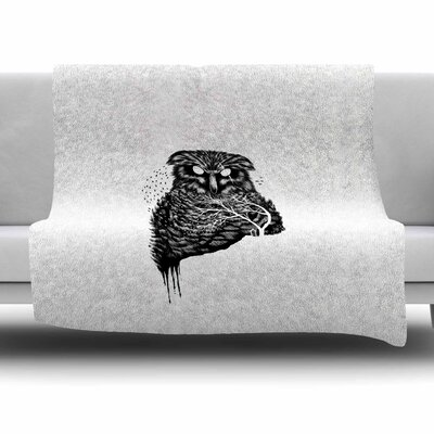 Autumn Owl by BarmalisiRTB Fleece Blanket Size: 80 L x 60 W