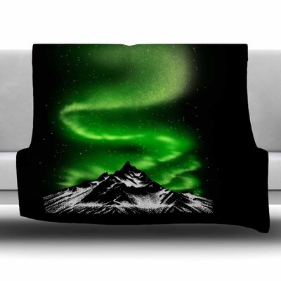 Aurora by BarmalisiRTB Fleece Blanket Size: 80 L x 60 W