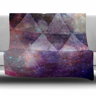 Geometric Stars by Suzanne Carter Fleece Blanket Size: 80 L x 60 W