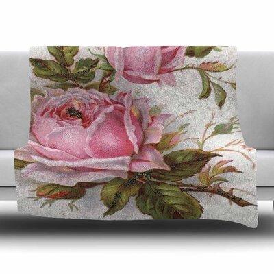 Vintage Rose by Suzanne Carter Fleece Blanket Size: 80 L x 60 W