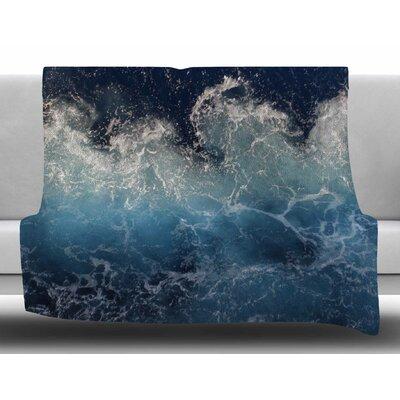 Sea Spray by Suzanne Carter Fleece Blanket Size: 80 L x 60 W