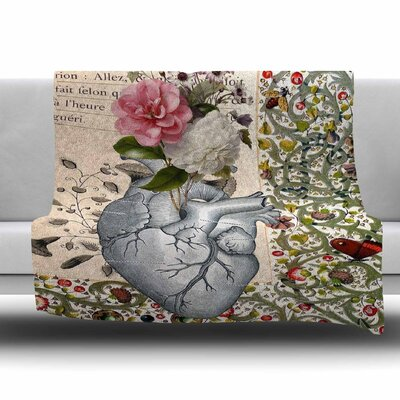 Her Heart Is A Garden by Suzanne Carter Fleece Blanket Size: 80 L x 60 W