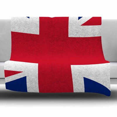 Classic Union Jack by Bruce Stanfield Fleece Blanket Size: 80'' L x 60'' W