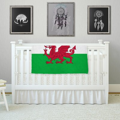 Flag Of Wales - Authentic by Bruce Stanfield Fleece Blanket Size: 80'' L x 60'' W