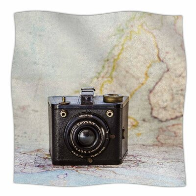 Travel Time by Debbra Obertanec Fleece Blanket Size: 80 L x 60 W