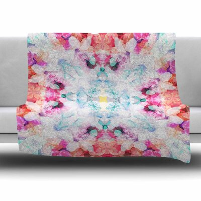 Hibiscus Kaleidoscope by Danii Pollehn Fleece Blanket Size: 80 L x 60 W