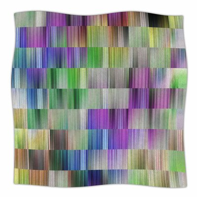 Sweet Pastel Lines 3 by Dawid Roc Fleece Blanket Size: 80 L x 60 W