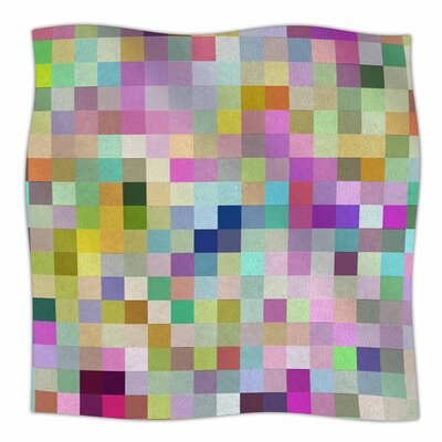 Colorful Pixels by Dawid Roc Fleece Blanket Size: 80 L x 60 W