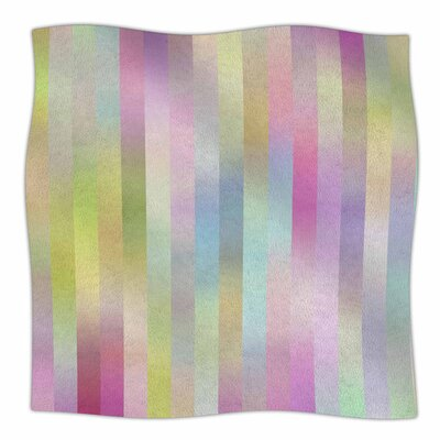 Sweet Pastel Lines 1 by Dawid Roc Fleece Blanket Size: 80 L x 60 W