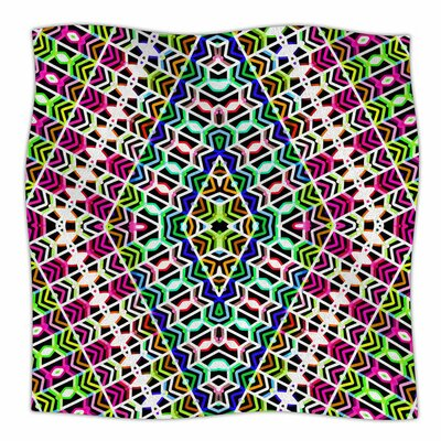 Colorful Tribal Pattern by Dawid Roc Fleece Blanket Size: 80 L x 60 W