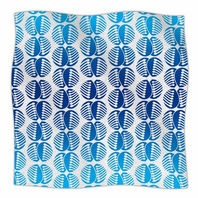 Poddy Combs in Blue by Dan Sekanwagi Fleece Blanket Size: 80 L x 60 W