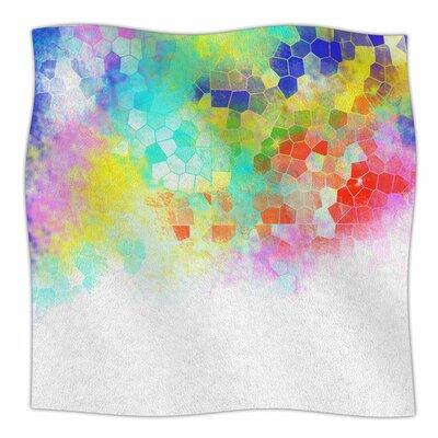 Color Structure by Dan Sekanwagi Fleece Blanket Size: 80 L x 60 W