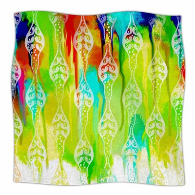 Seeds of Unity by Dan Sekanwagi Fleece Blanket Size: 80 L x 60 W