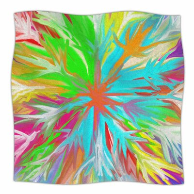 Tropical Paradise by Dan Sekanwagi Fleece Blanket Size: 80 L x 60 W