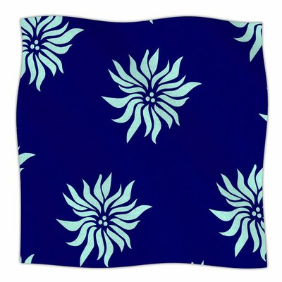 Snow Flowers by NL Designs Fleece Blanket Size: 80 L x 60 W