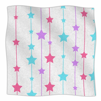 Pastel Stars by NL Designs Fleece Blanket Size: 80 L x 60 W