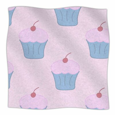 Cupcakes by NL Designs Fleece Blanket Size: 80 L x 60 W