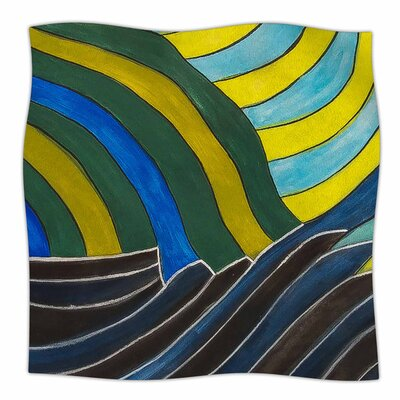 Desert Waves by NL Designs Fleece Blanket Size: 80 L x 60 W