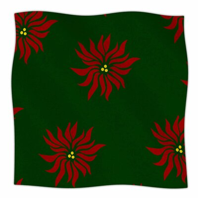 Pointsettias by NL Designs Fleece Blanket Size: 80 L x 60 W