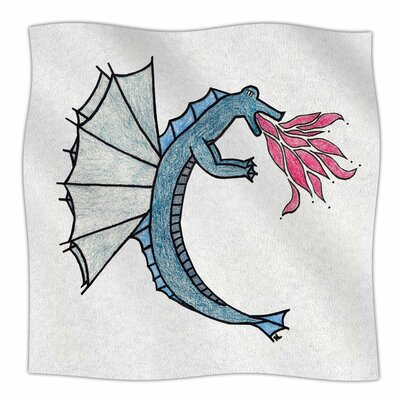 Water Dragon by NL Designs Fleece Blanket Size: 80 L x 60 W