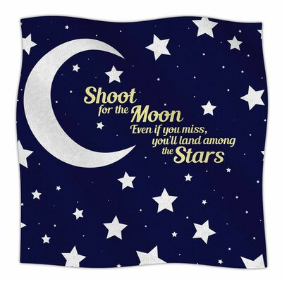 Moon And Stars Quote by NL Designs Fleece Blanket Size: 80 L x 60 W