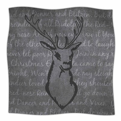 Reindeer by NL Designs Fleece Blanket Size: 80 L x 60 W