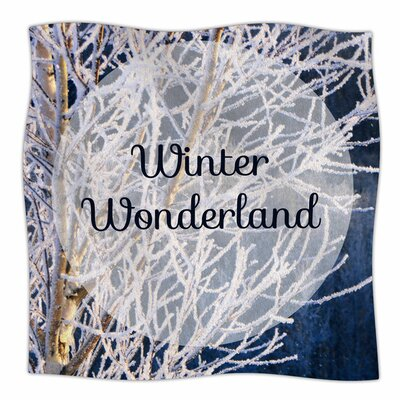 Winter Wonderland by NL Designs Fleece Blanket Size: 80 L x 60 W