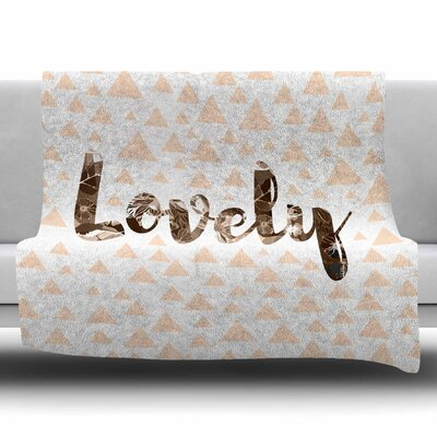 Lovely by Suzanne Carter Fleece Blanket Size: 80 L x 60 W