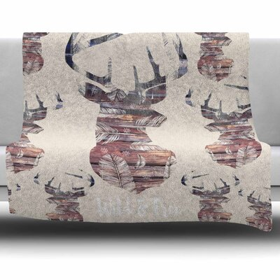 Wild and Free 2 by Suzanne Carter Fleece Blanket Size: 40 L x 30 W