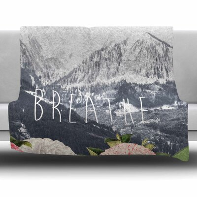 Breathe by Suzanne Carter Fleece Blanket Size: 40 L x 30 W