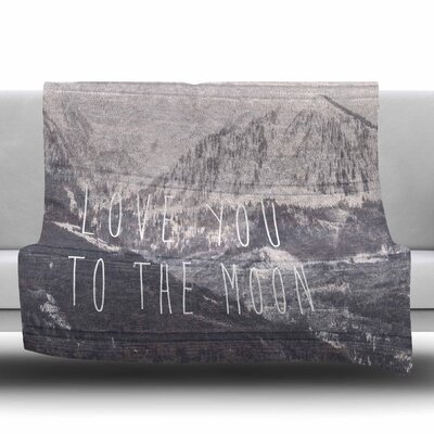 Love You to The Moon by Suzanne Carter Fleece Blanket Size: 80 L x 60 W