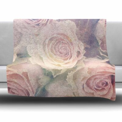 Faded Beauty by Suzanne Carter Fleece Blanket Size: 80 L x 60 W