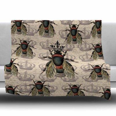 Queen Bee by Suzanne Carter Fleece Blanket Size: 80 L x 60 W