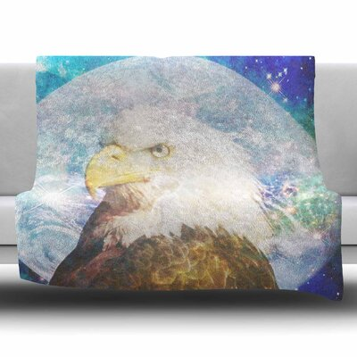 Space Cadet 2 by Suzanne Carter Fleece Blanket Size: 80 L x 60 W
